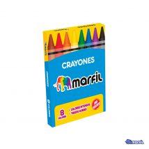 Crayones cortos x 8