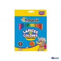 Colores Triangulares sacapuntas x 24